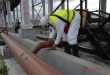Обнаружение места утечки на приемном трубопроводе